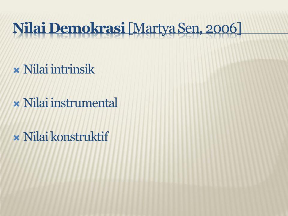 Nilai Demokrasi [Martya Sen, 2006]